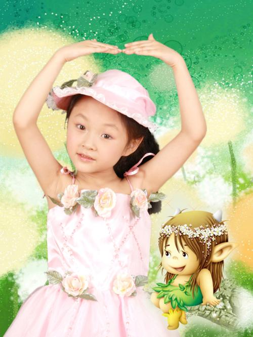 可爱小女孩图