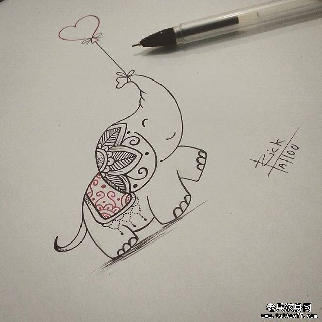 可爱小图纹身手稿