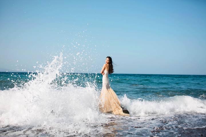 海边婚纱唯美照片