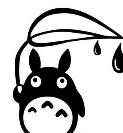 龙猫表情包 简笔画