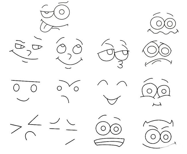 人物表情简笔画的画法步骤图片