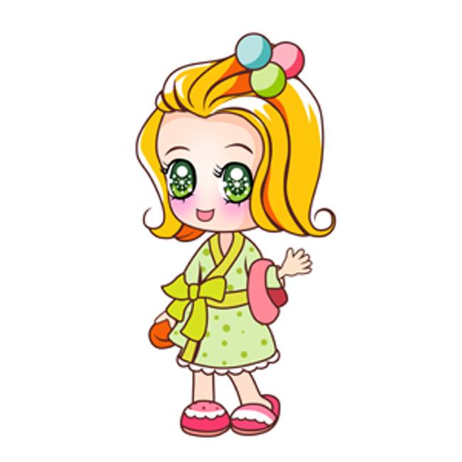 可爱女孩卡通图片