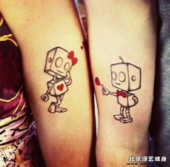情侣纹身小图案肩膀