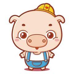微信头像猪卡通可爱图片