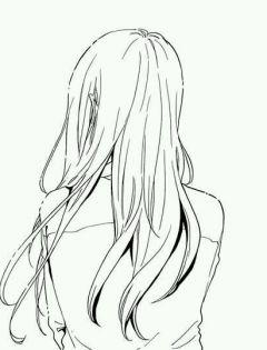 背影图片女生唯美伤感黑白动漫图片