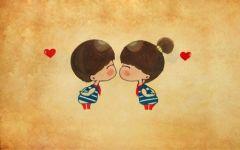 唯美的爱情卡通图片图片