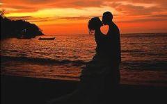 情侣头像夕阳背影一对