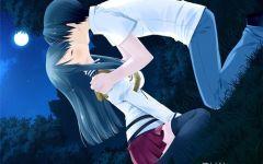 动漫情侣接吻图片