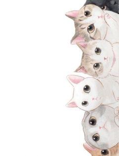 狗狗手绘情侣图片