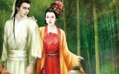 古装手绘情侣图片