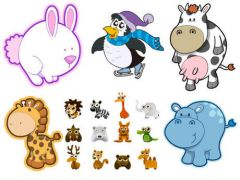 可爱卡通动物图片大图