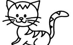可爱猫咪图片简笔画