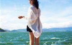 微信头像图片女海边