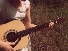 吉他照片图唯美图