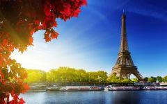 巴黎铁塔唯美风景图