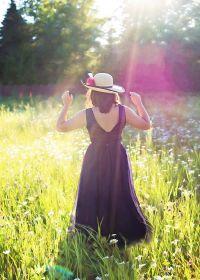 阳光照片唯美女