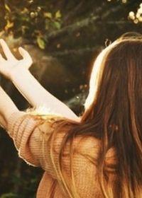 女生阳光照片唯美