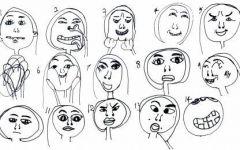 幼儿表情图片简笔画