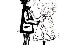 卡通情侣娃娃简笔画