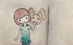 卡通图配字情侣
