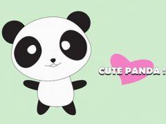 可爱熊猫卡通图片
