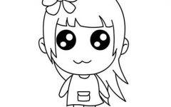 可爱图片卡通萌女孩简笔画
