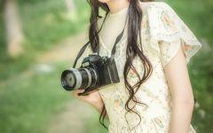 唯美照片森林系女生