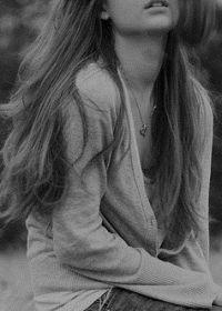 唯美照片女黑白照片