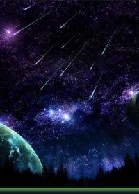 梦幻唯美的流星雨图片