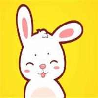 萌情侣头像卡通手绘兔子