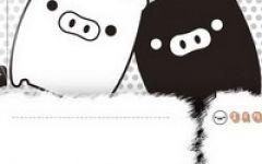 情侣头像卡通黑白