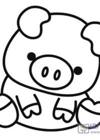 小猪简笔画图可爱