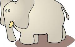 大象卡通图片大全可爱
