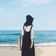 微信头像女背影海边