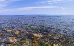 蓝色唯美图片海洋