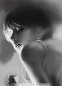 唯美人物图片黑白图片