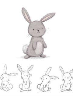 一左一右情侣兔子图片