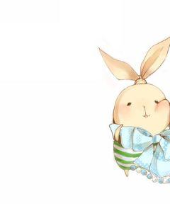 卡通兔子图片情侣萌萌
