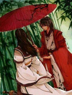 情侣雨中分手打伞图片