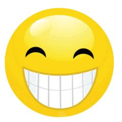 微信白色笑脸表情头像图片