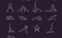 瑜伽卡通可爱小人图片