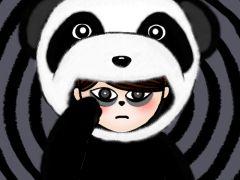 黑眼圈熊猫眼图片可爱