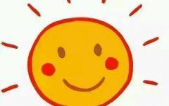 卡通太阳图片可爱笑脸