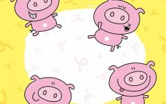 超可爱小猪表情图片