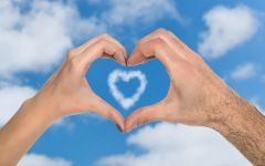 情侣手比心图片手势
