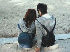 情侣分手图片背影