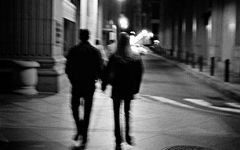 夜晚情侣影子图片