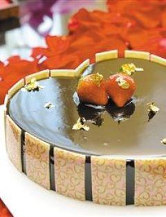 浪漫情侣蛋糕图片大全