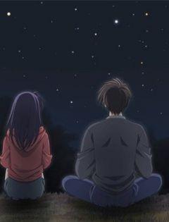 夜晚情侣牵手图片动漫图片