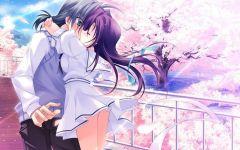 情侣亲吻图片壁纸动漫